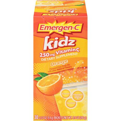 Emergen-C Kidz Orange Vitamin C 250mg Drink Mix Dietary Supplement