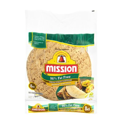 Mission Tortillas, Whole Wheat, 95% Fat Free, Soft Taco