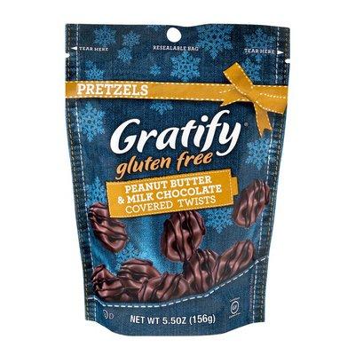 Gratify Gluten Free Pretzels Peanut Butter & Milk Chocolate Covered Twists