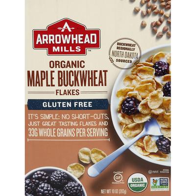 Arrowhead Mills Flakes, Organic, Maple Buckwheat