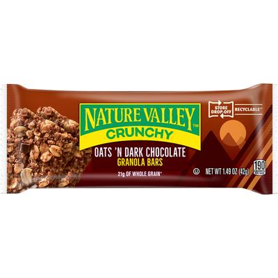 Nature Valley Granola Bars, Crunchy, Oats 'n Dark Chocolate