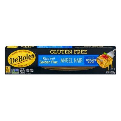 DeBoles Gluten Free Rice Plus Golden Flax Angel Hair Pasta