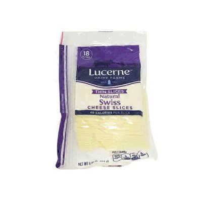 Lucerne Cheese, Thin Sliced, Swiss