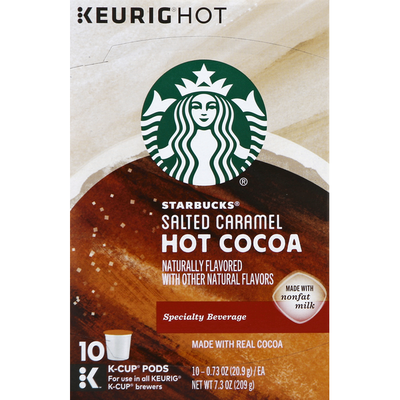 Starbucks Hot Cocoa, Salted Caramel, K-Cup Pods