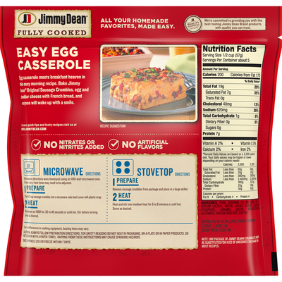 Jimmy Dean Fully Cooked Original Sausage Crumbles