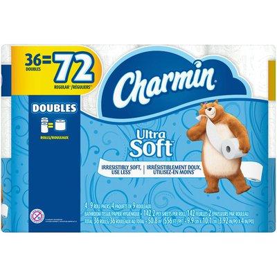 Charmin Ultra Soft Toilet Paper 36 Double Rolls