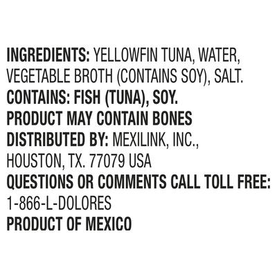 Dolores Yellowfin Tuna, Chunk Light, in Water