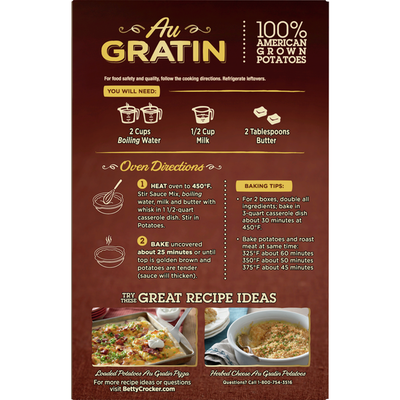 Betty Crocker Au Gratin Potatoes, Made with Real Cheese