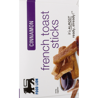 Food Lion Toast Sticks, French, Cinnamon