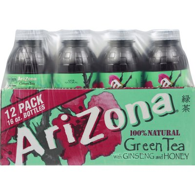AriZona Green Tea with Ginseng and Honey, Bottles