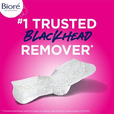 Bioré Pore Strips Nose+Face, 7 Nose + 7 Face Strips, Blackhead Remover Strips, , Oil-Free