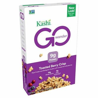 Kashi GO Breakfast Cereal, Vegan Protein, Fiber Cereal, Toasted Berry Crisp