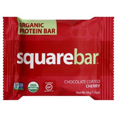 Square Organics Protein Bar, Organic, Chocolate Coated Cherry