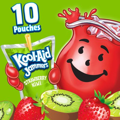 Kool-Aid Jammers Strawberry Kiwi Artificially Flavored Soft Drink