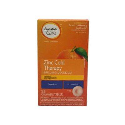 Signature Care Zinc Quick Dissolve Tablets, Citrus
