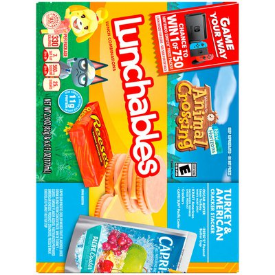 Lunchables Turkey & American Cheese Cracker Stackers Meal Kit with Capri Sun Pacific Cooler Drink & Reese's Peanut Butter Cup