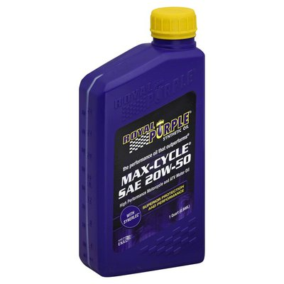Royal Purple Motor Oil, High Performance Motorcycle and ATV, Max-Cycle, SAE 20W-50