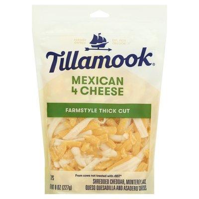 Tillamook Farmstyle Thick Cut Mexican 4 Cheese Blend Shredded Cheese