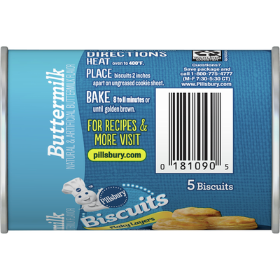 Pillsbury Flaky Layers Buttermilk Biscuits, 5 Count