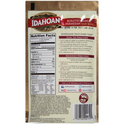 Idahoan Baby Reds w/Roasted Garlic & Parm Mashed Potatoes