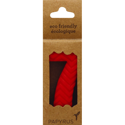 Papyrus Candle Topper, Number 7, 2-1/2 x 1-3/8 Inch