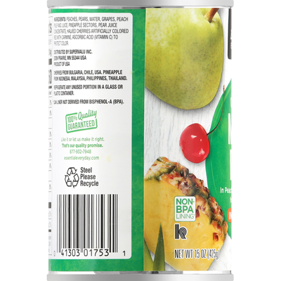 Essential Everyday Mixed Fruit in 100% Juice, Chunky