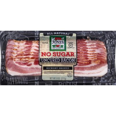 Jones Dairy Farm Bacon, No Sugar, Hickory Smoked, Uncured