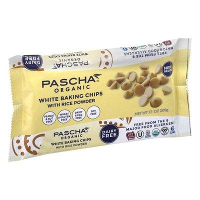 Pascha White Baking Chips, with Rice Powder, Organic