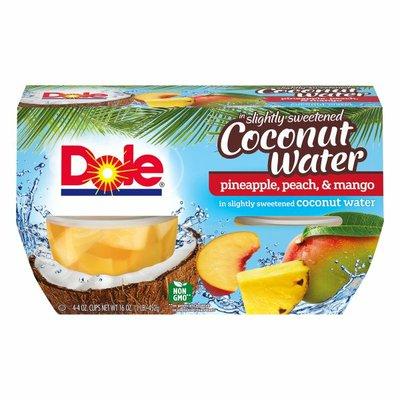 Dole Pineapple, Peach & Mango in Slightly Sweetened Coconut Water