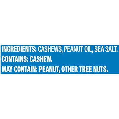 Planters Lightly Salted Cashews Halves & Pieces