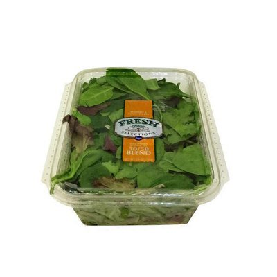 Kroger Fresh Selections 50/50blend, Baby Spinach & Spring Mix