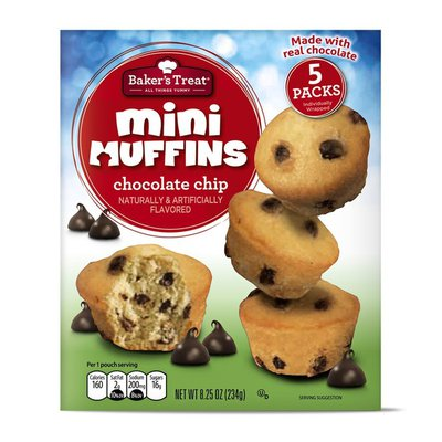 Baker's Treat Chocolate Chip Mini Muffins