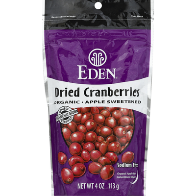 Eden Dried Cranberries, Apple Sweetened