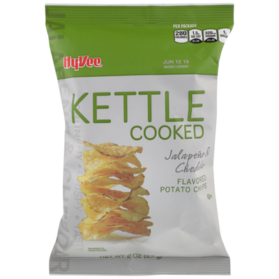 Hy-Vee Jalapeno & Cheddar Flavored Kettle Cooked Potato Chips