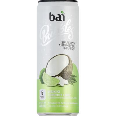 Bai Bubbles Sparkling Antioxidant Infusion Beverage Waikiki Coconut Lime