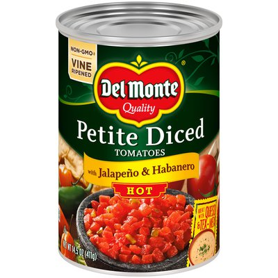 Del Monte Tomatoes with Jalapeno & Habanero, Hot, Petite Diced