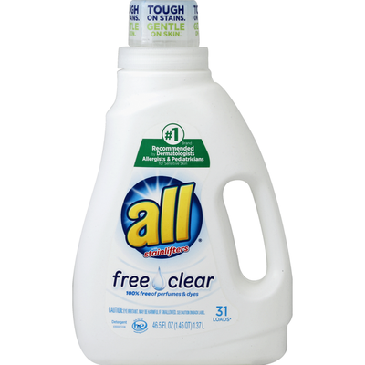 all Detergent, Free Clear