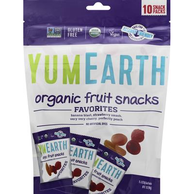 YumEarth Fruit Snacks, Organic, Favorites, 10 Snack Packs