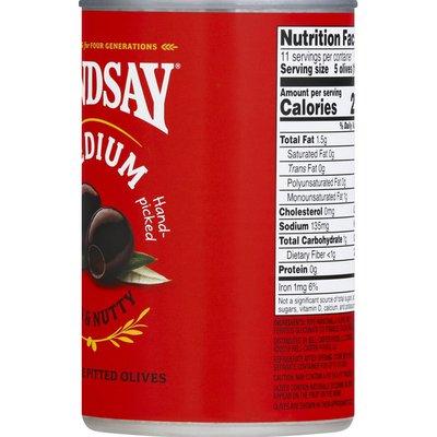 Lindsay Ripe Pitted Olives, Mild & Nutty, Black, Medium