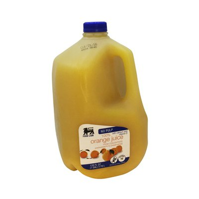 Food Lion 100% Juice, Orange, No Pulp
