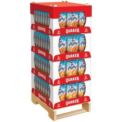 Quaker 3 oz. Variety 10 Case Quarter Pallet Display