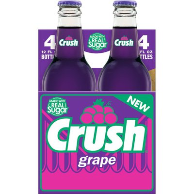 Crush Grape Soda Made with Sugar