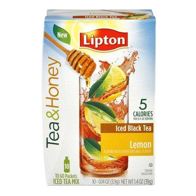 Lipton Tea & Honey Lemon Iced Black Tea To-Go Packets