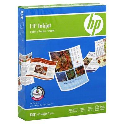 Hewlett Packard Paper, Inkjet, 8.5 x 11 Inch
