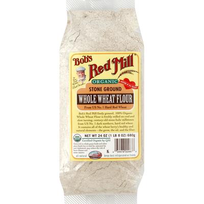 Bob's Red Mill Flour, Whole Wheat, Organic, Stone Ground