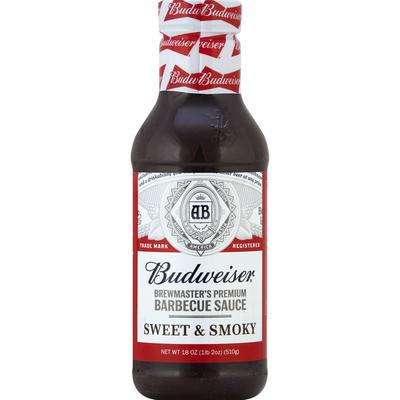 Budweiser Barbecue Sauce, Sweet & Smokey, Brewmaster's Premium