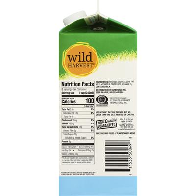Wild Harvest Milk, Organic, Low Fat, 1% Milk Fat