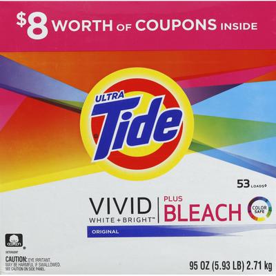 Tide Detergent, Ultra, Plus Bleach, Original