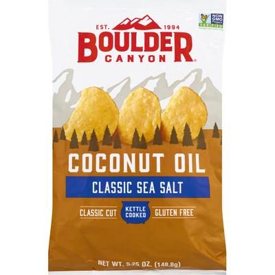 Boulder Canyon Potato Chips, Classic Sea Salt, Coconut Oil, Classic Cut