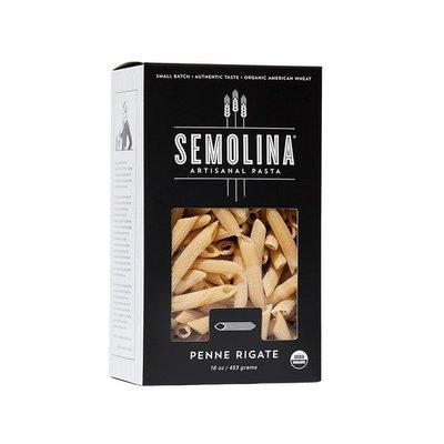 Semolina Artisanal Pasta Organic Penne Rigate